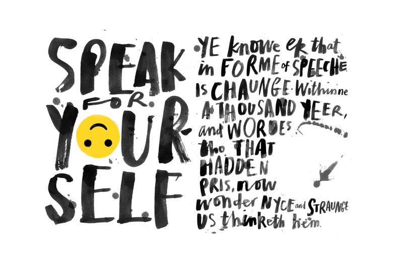 Geoffrey Chaucer language changes