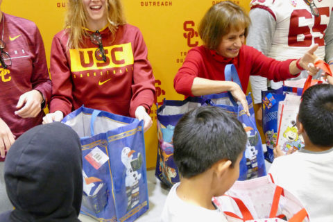 USC Athletics community outreach
