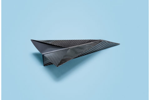 recycled carbon airplane