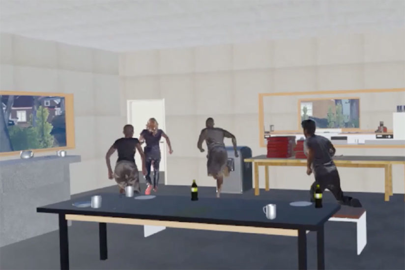 Active shooter training virtual reality
