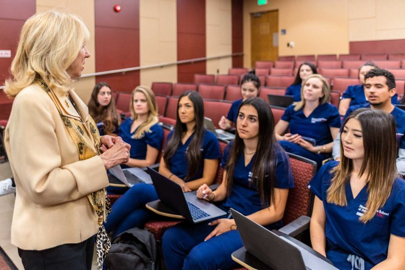 Diane Melrose and dental hygiene students