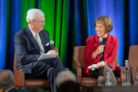 Carol L. Folt and Bill Allen discuss sustainability