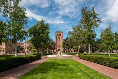 Deserted USC campus