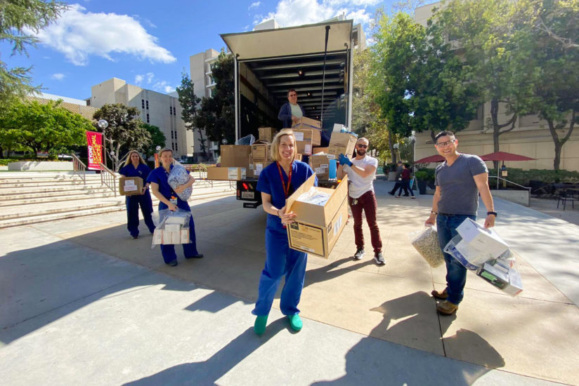 USC faculty staff donate medical supplies