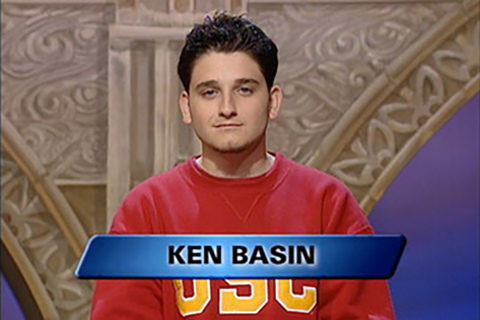 Ken Basin represented USC at the Jeopardy! College Championship. 	(Photo/Courtesy of Jeopardy Productions Inc)