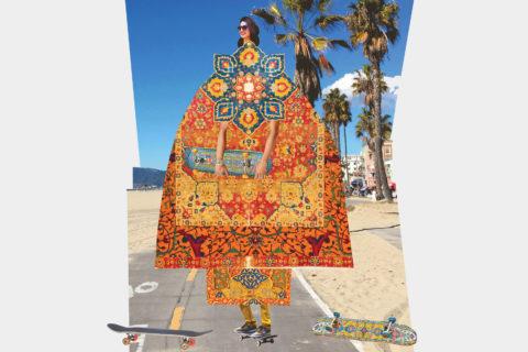 Leila Nazarian skateboarding