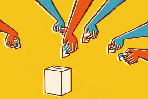 super tuesday voting illustration