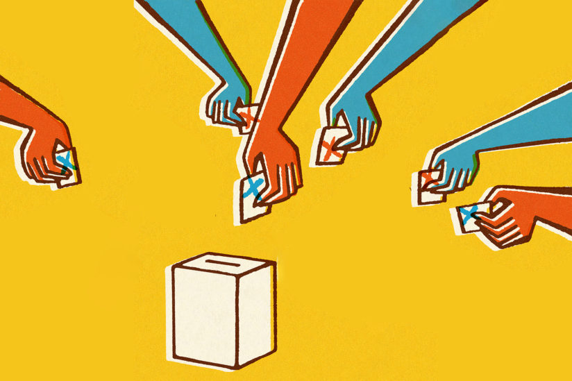 super tuesday voting illustration