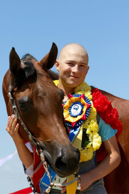Ryan Melendez with horse