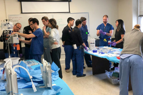 surgical residents train as nurses
