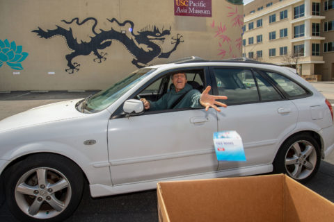Pacific Asian Museum drive thru donation