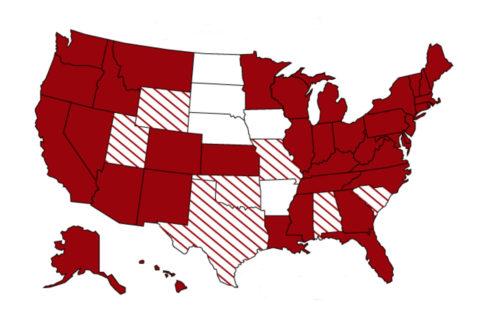 US coronavirus map