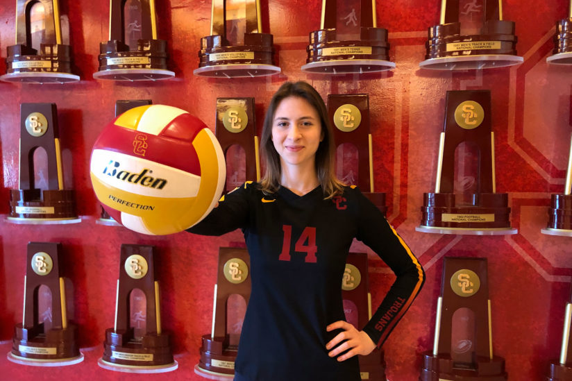 Aleksandra Gryka USC volleyball on campus covid-19
