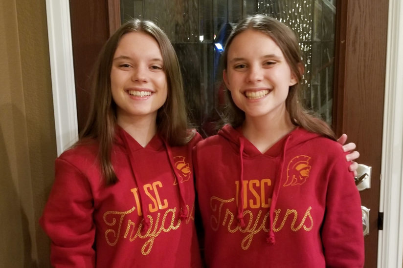 Ashley and Aspen Somers twin Trojans USC surgery
