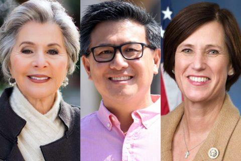 Barbara Boxer, John Chiang and Mimi Walters