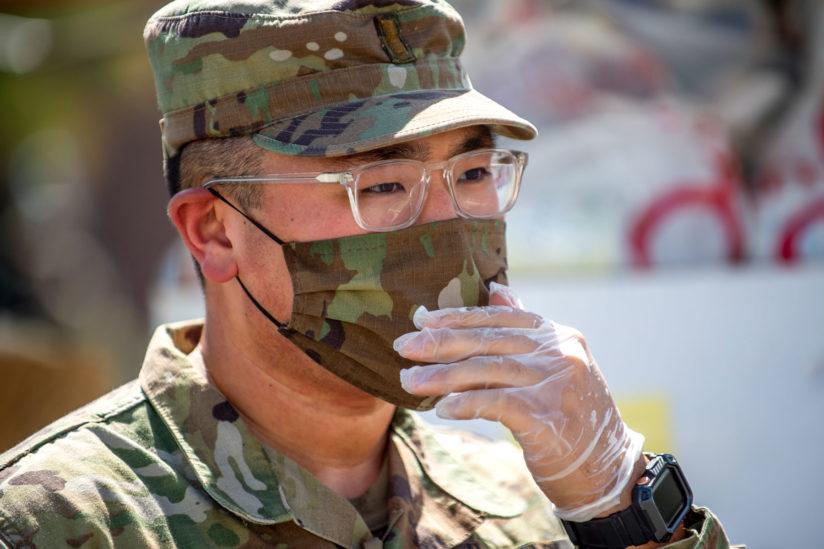 Justin Lee National Guard COVID-19