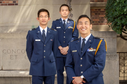 USC Air Force ROTC cadets