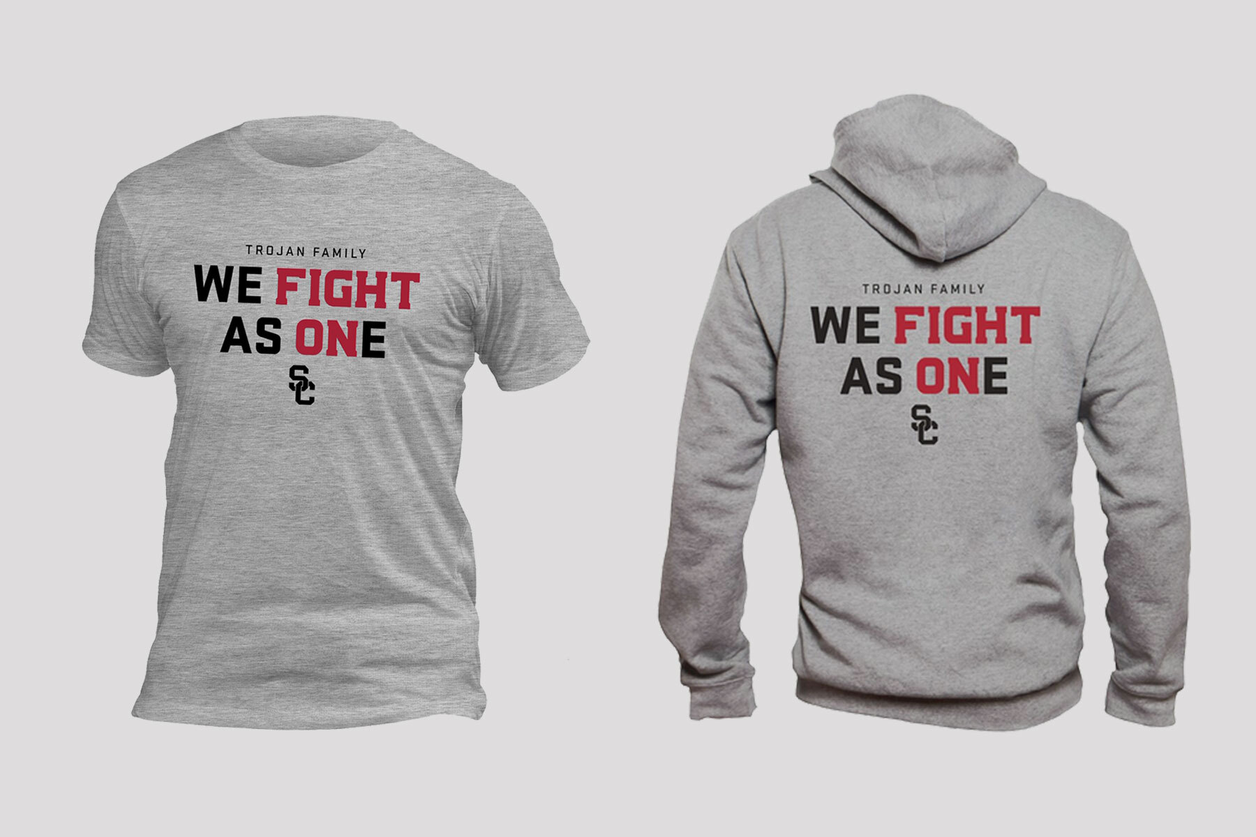 We Fight As One USC shirts