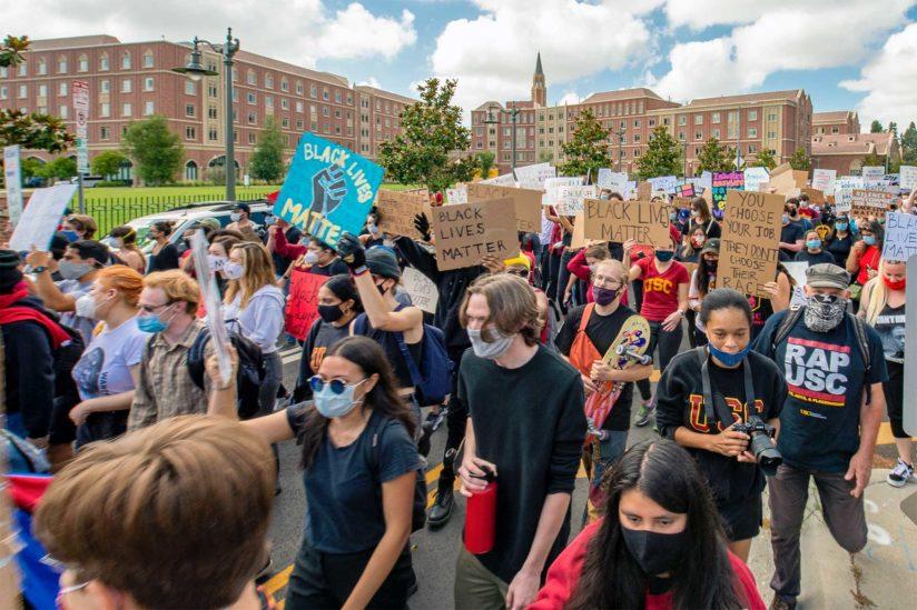 Black Lives Matter protest at USC