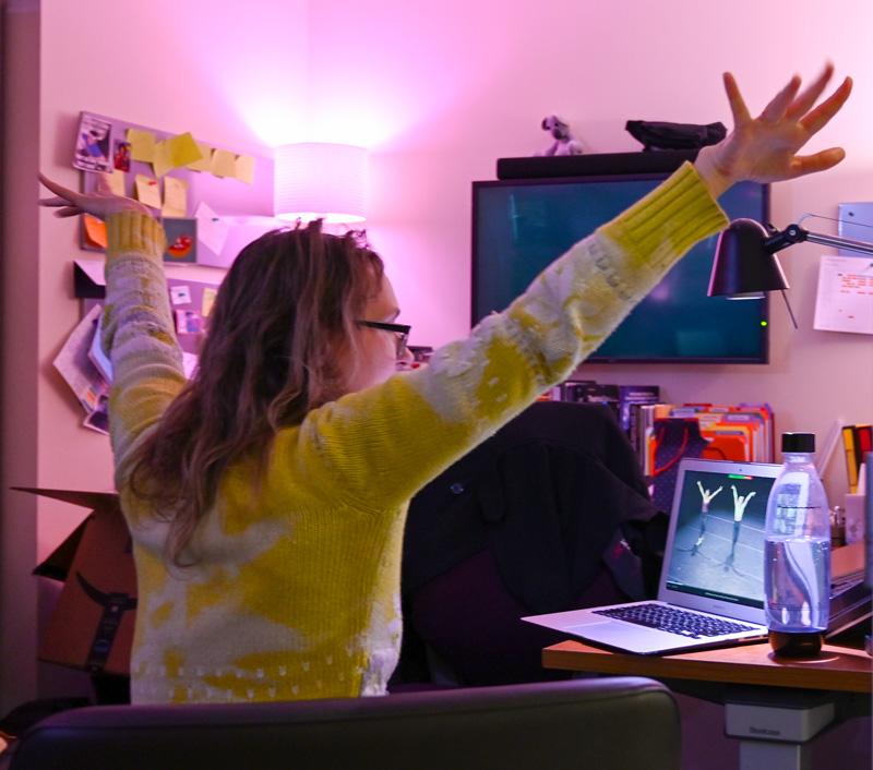 Fiona Lummis teaching virtual repertory and performance class