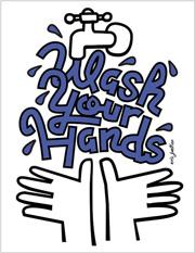 """Wash Your Hands"" illustration by Eric Junker"