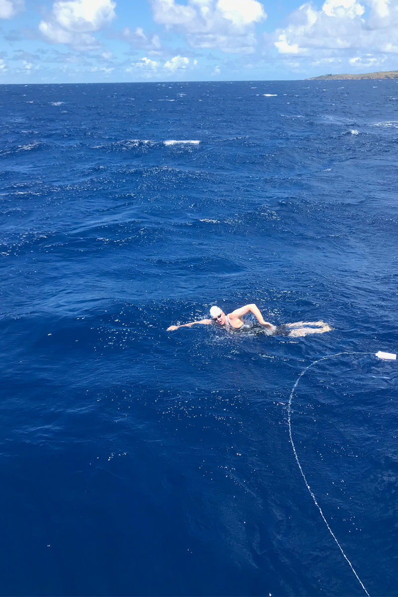 Becca Mann usc student swimming in Hawaii