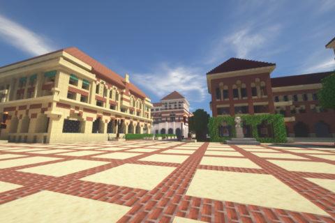 USC Minecraft version of campus