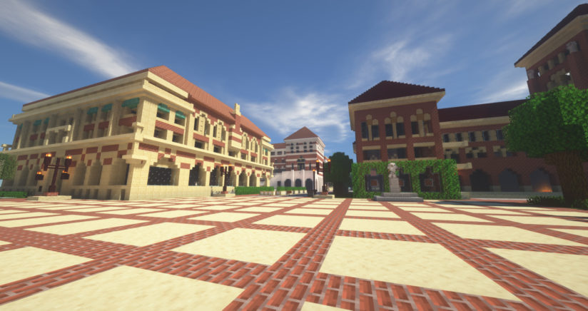 USC Minecraft version of campus