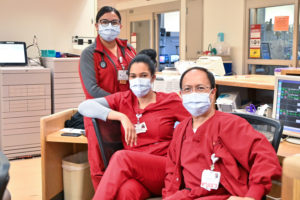 USC Verdugo Hills Hospital team in cardinal scrubs