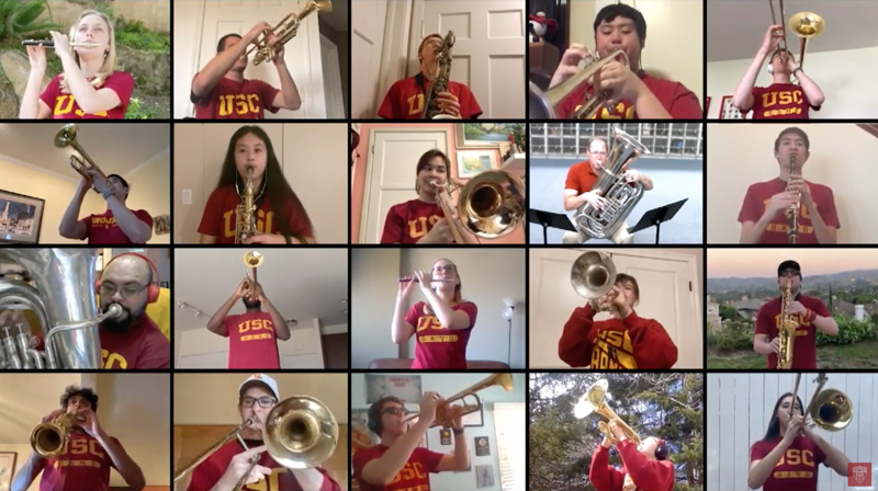 Trojan Marching Band virtual performance