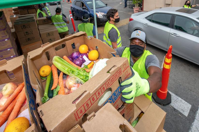 St. Agnes food distribution