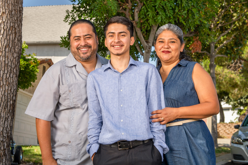 David and Laura Garcia saw NAI as a path to college for their son, Ivan.