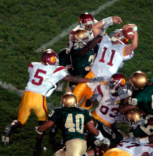 Bush Push 2005 USC vs. Notre Dame football game