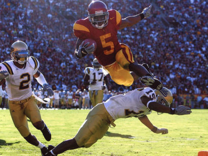 2005 Reggie Bush Goal Line Hurdle UCLA