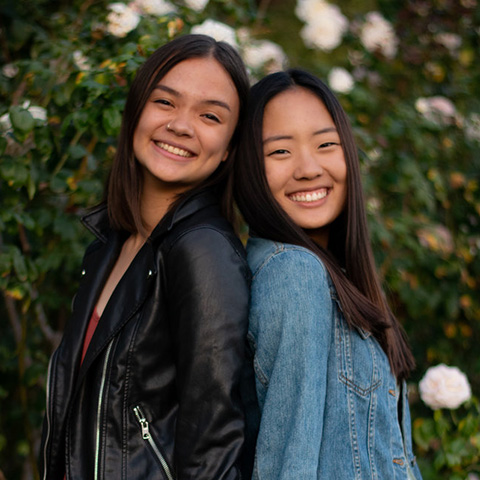 Alumna Abigail Leung and Esther Cha.