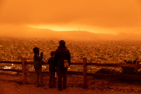 West Coast wildfires air quality California