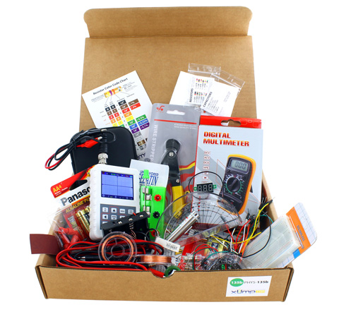 box of physics experiment equipment