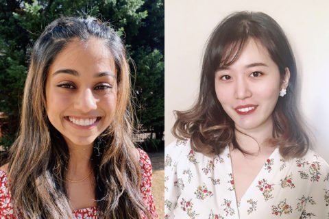 USC Reimagine Challenge winners Neha Halebeed and Tongqing Zhu