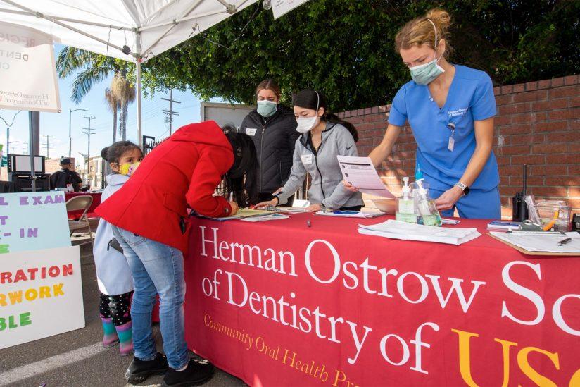 USC mobile clinic dental care pandemic