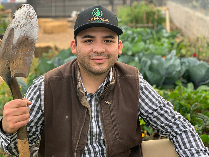 Los Angeles urban gardener Jose Miguel Ruiz