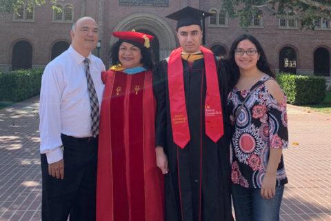 USC's Shimada family alumni portrait
