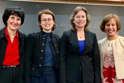 Hanna Reisler, Leana Golubchik, UCLA's Emily Carter and USC President Carol L. Folt