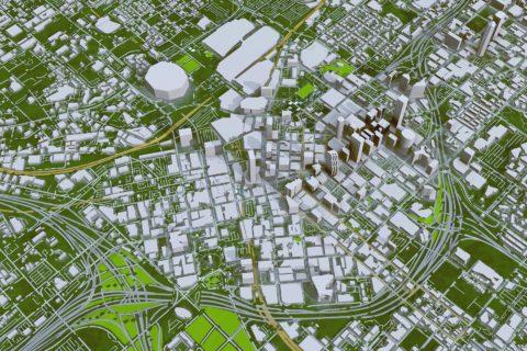 aerial 3D map of Atlanta