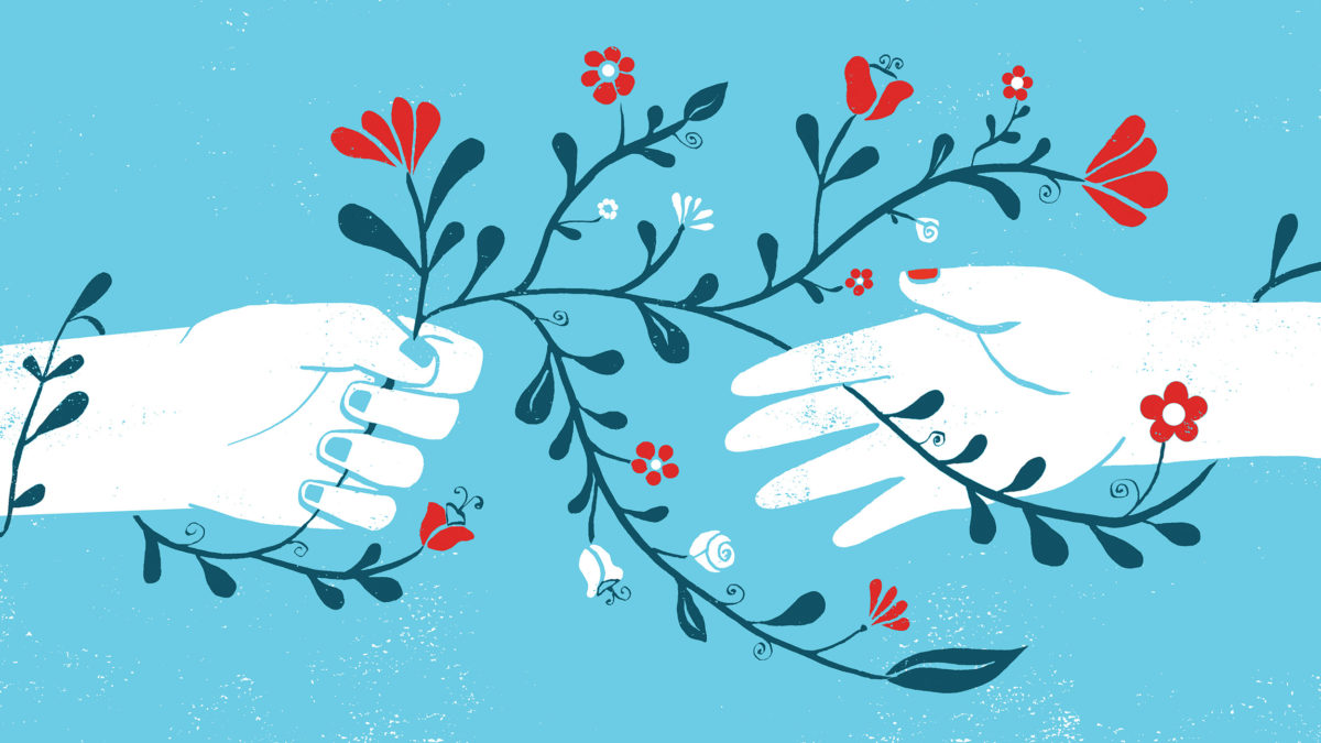 hands symbolizing women's health