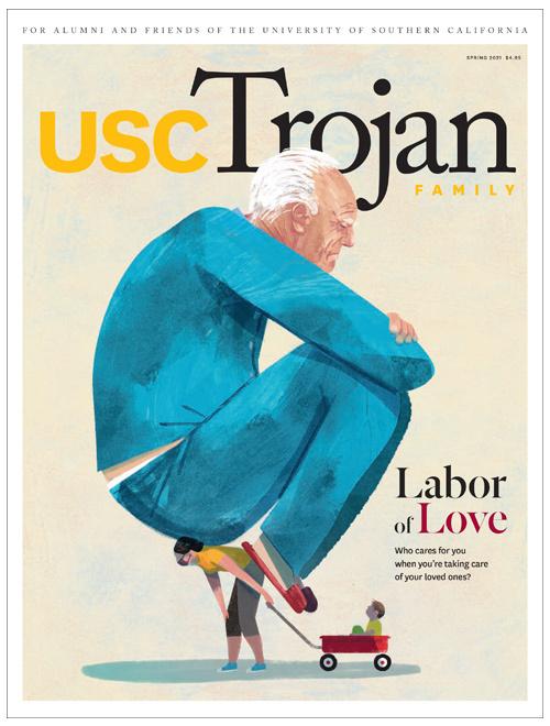 Trojan Family Magazine spring 2021 cover