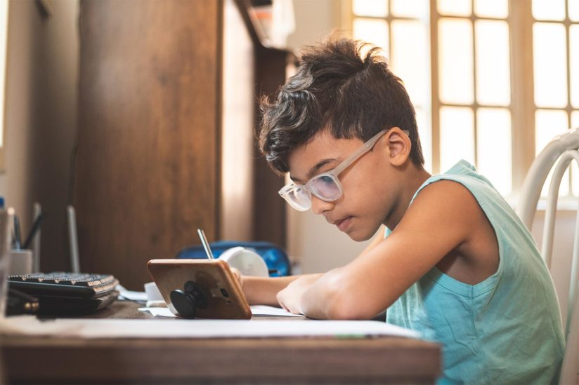 online learning California families internet access