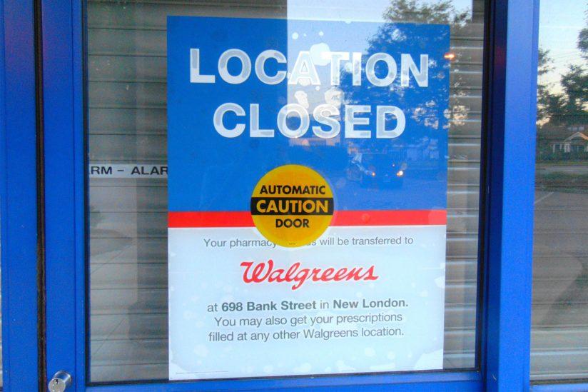 Closed pharmacy
