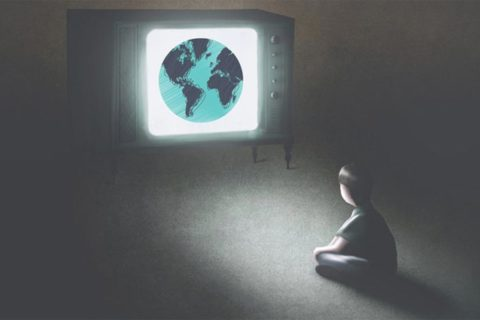 Globe on a TV