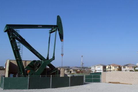 Urban oil well