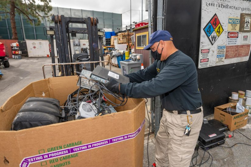 USC used electronics being sorted